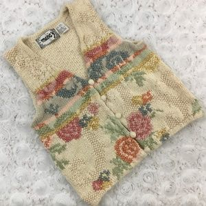 Vintage | Floral Knit Sweater Vest